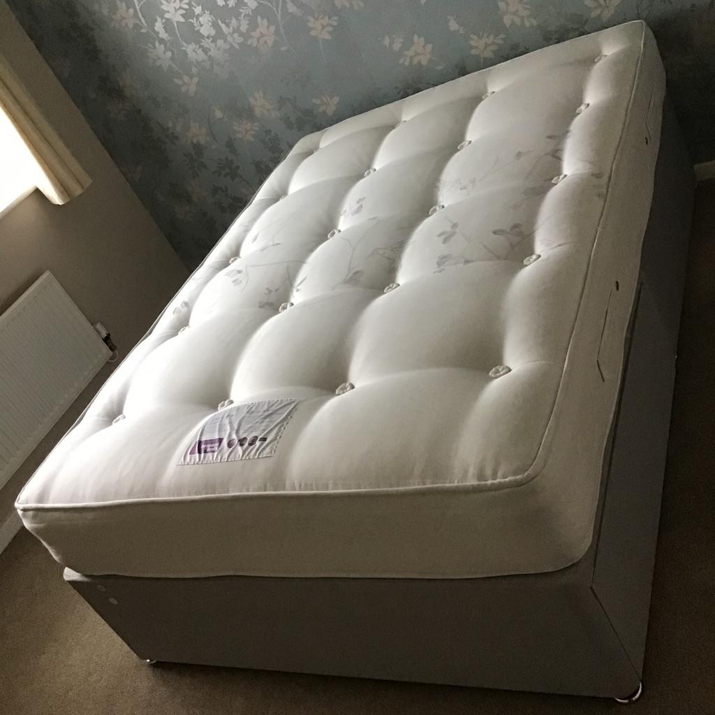 Double divan 2 drawer bed