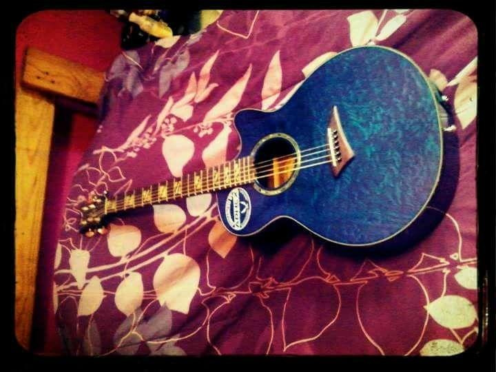 Deans Blue Electric Accoustix Guitar