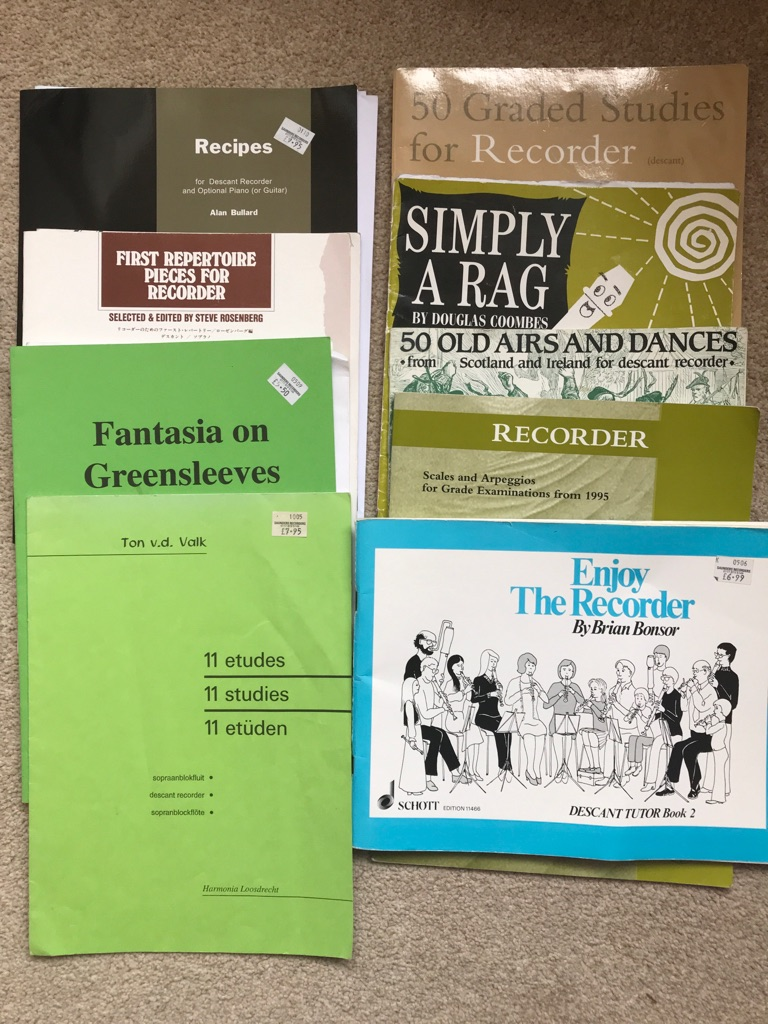 Assorted descant and treble recorder music
