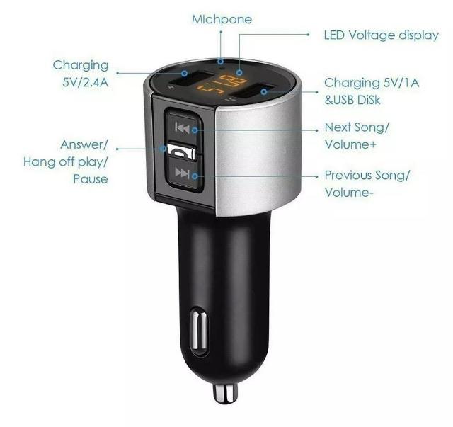 Bluetooth fm transmitter wireless
