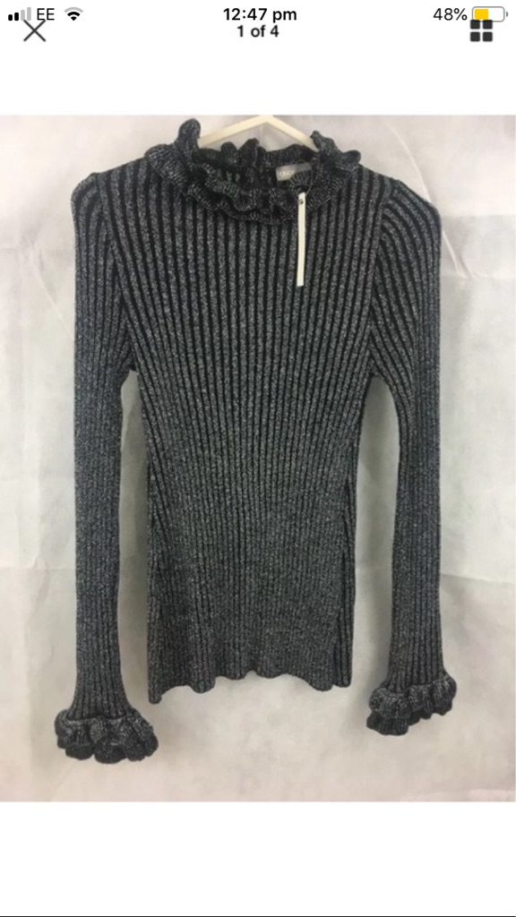 Asos black sparkle jumper size 8 new with tags