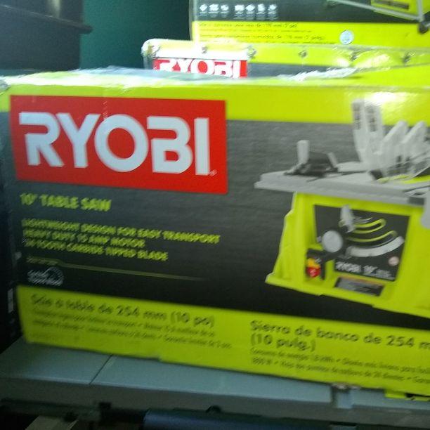"""Ryobi 10"""" table saw"""