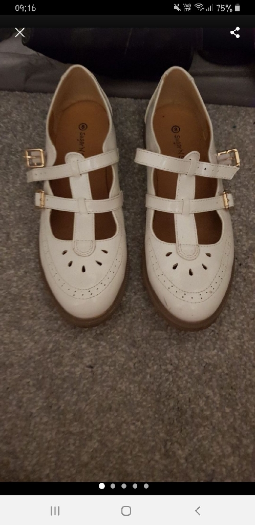 White dolly shoes