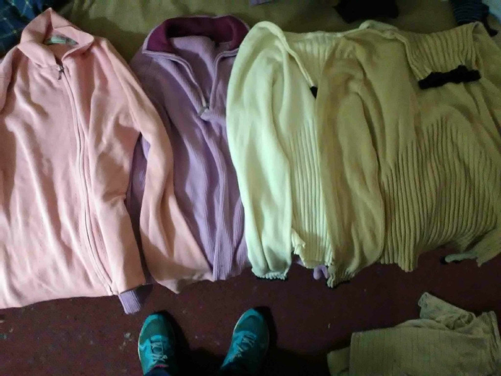 Womens long sleeve shirts and turtle neck and two jackets