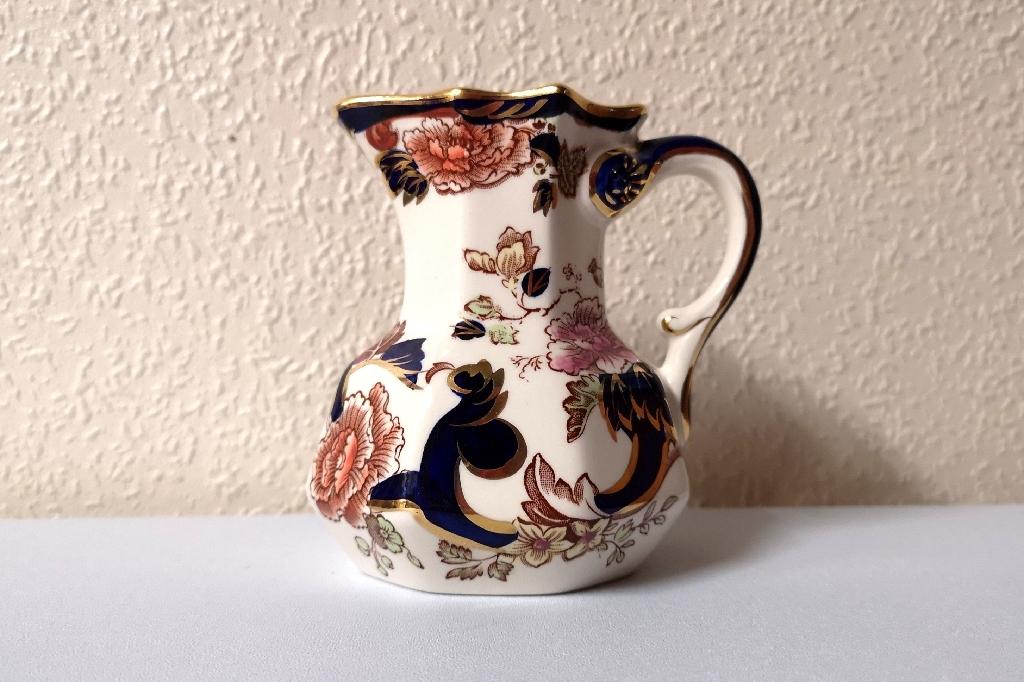 A vintage Masons Ironstone Blue Mandalay Pattern jug.
