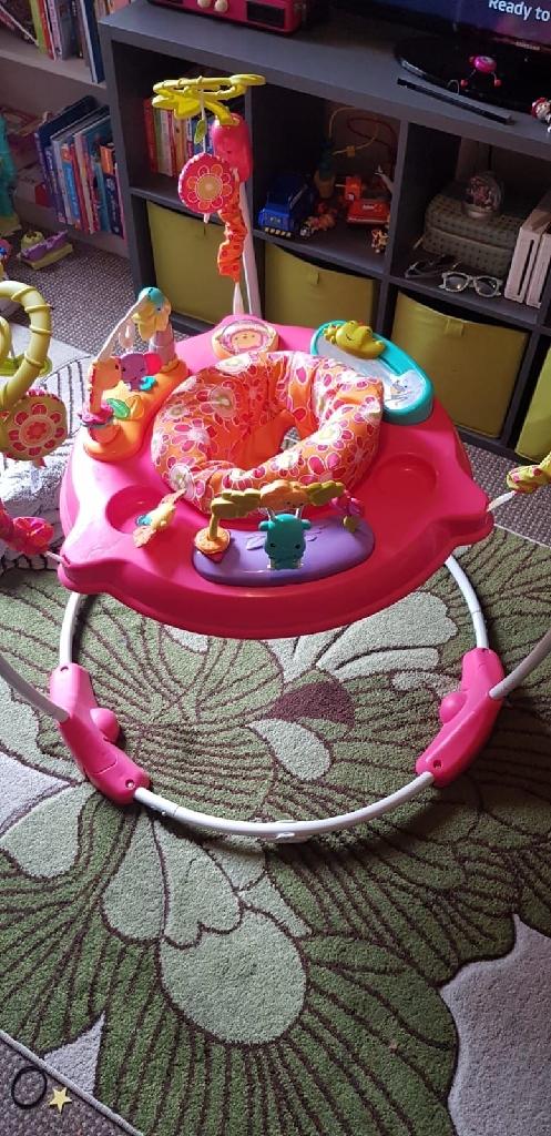 Fisher price pink petals jumperoo