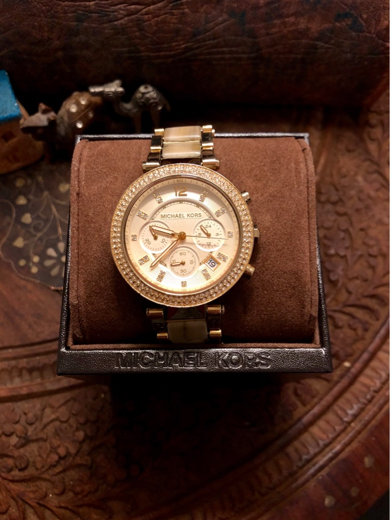 Michael Kors chronology champagne gold watch