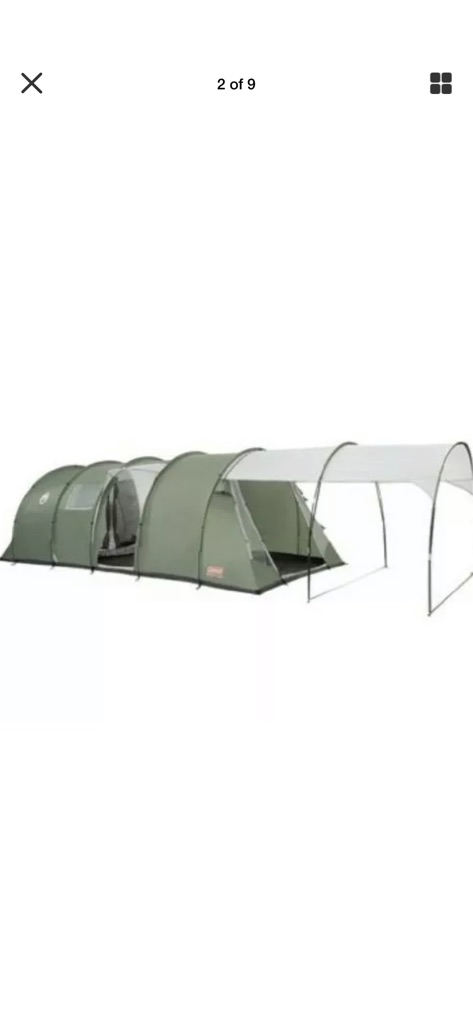 Coalman coastline deluxe 6 man tent with brand new awning