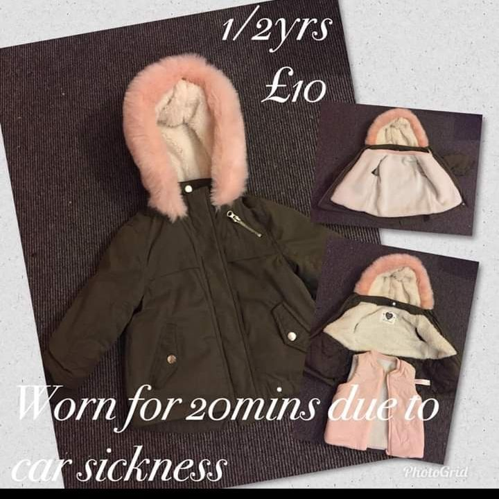 Girls 2 in 1 coat 1/2 yrs