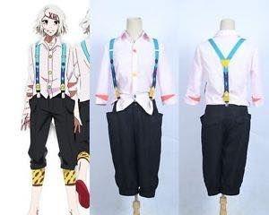 Tokyo Ghoul Juuzou Suzuya Cosplay Costume & Wig Brand New