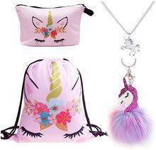 4 pack pink unicorn flower set