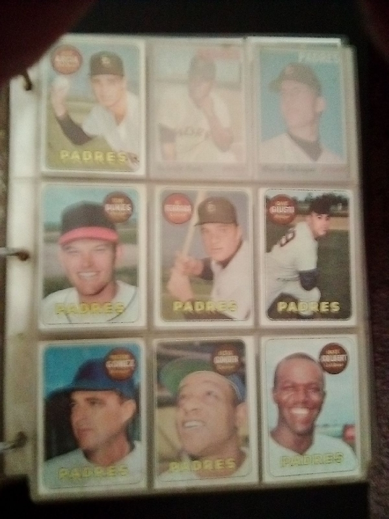 Vintage Padres Baseball Card Album.