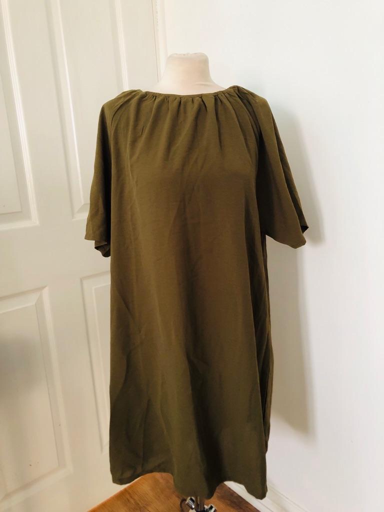 Women's green dress by boohoo size 16