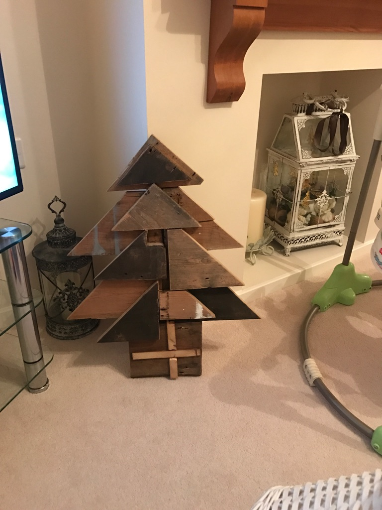 Salvaged timber Christmas tree