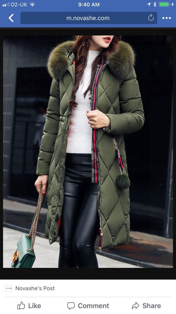 Khaki padded coat size 12