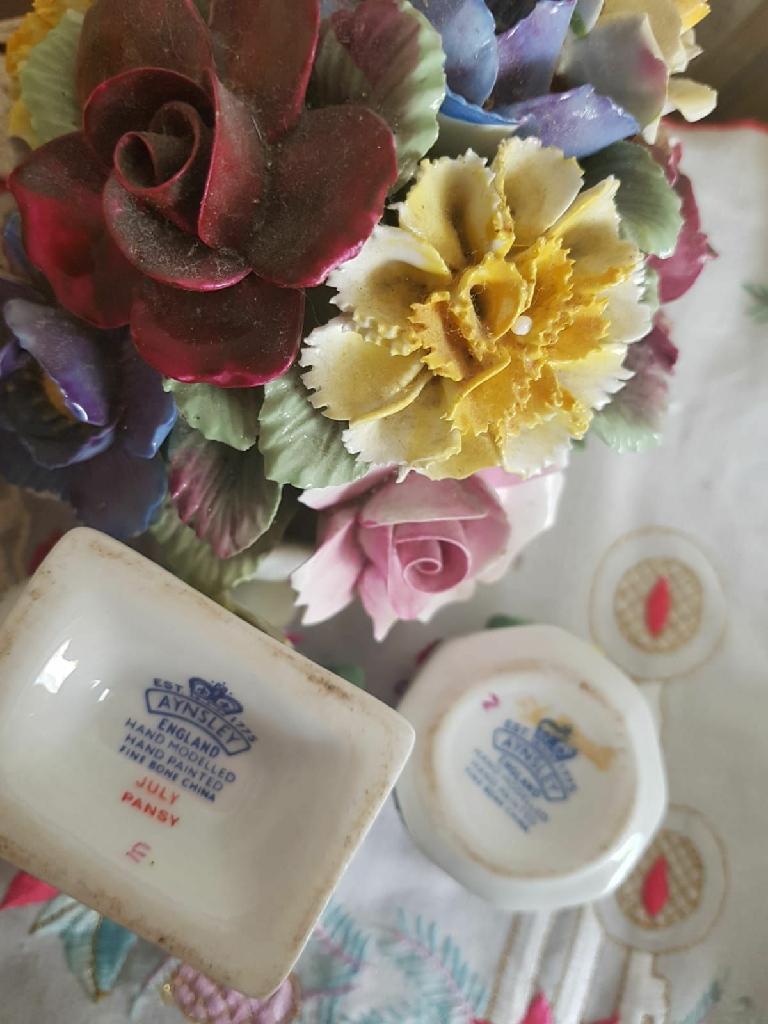 Aynsley flower bowls x 3