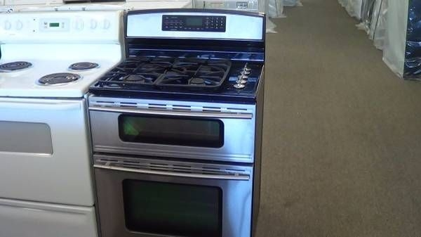 Jenn Air Stainless Steel Double Oven Natural Gas