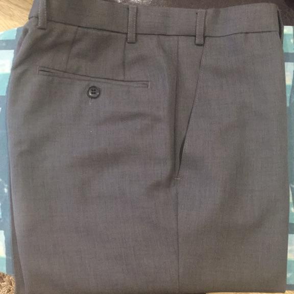 "M&S dark grey grey trousers (32"" short)"