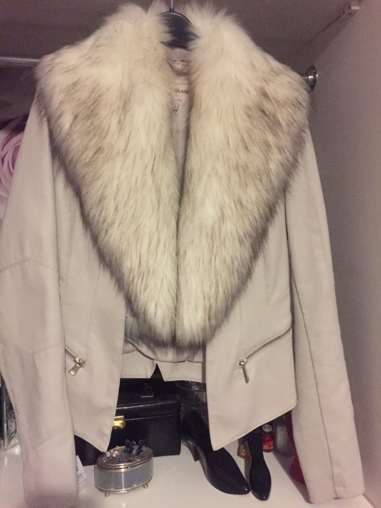 Cream jacket from river island