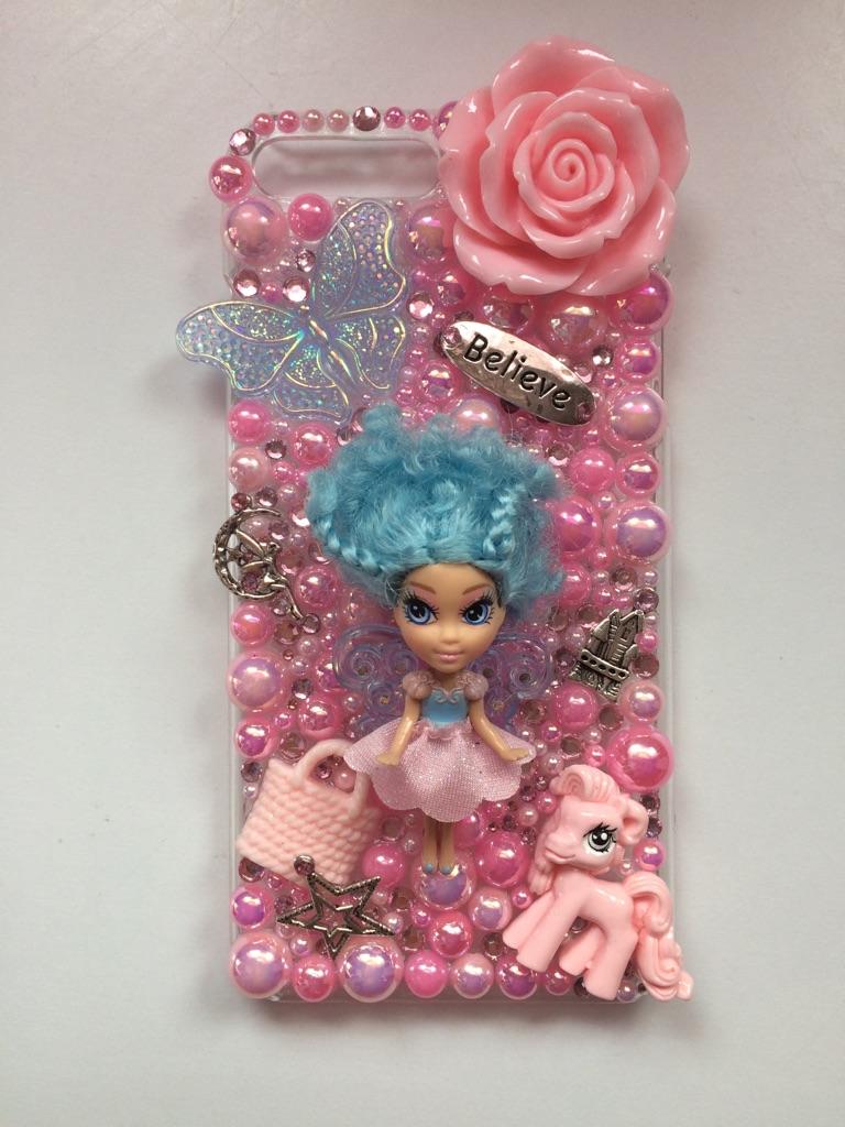 Customised handmade iPhone 7 Plus fairy doll case