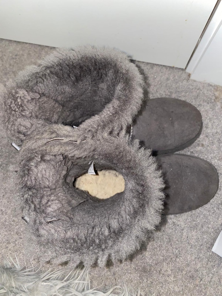 Women's Grey Bow Ugg Boots
