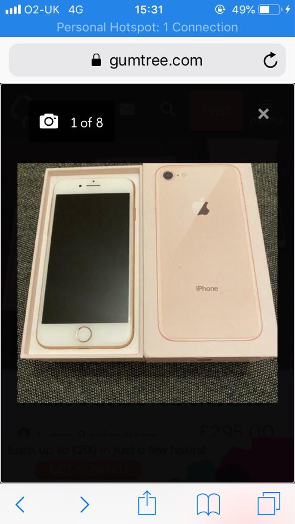 iPhone 8 LIKE NEW 256gb
