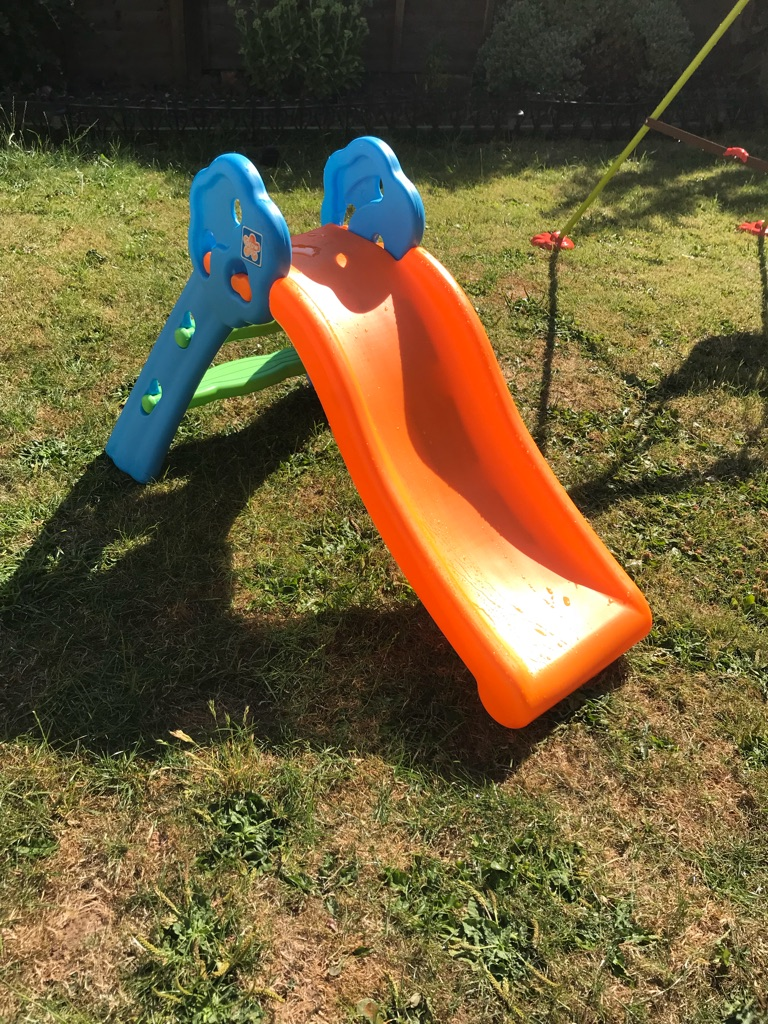 Foldable climb and slide & baby swing