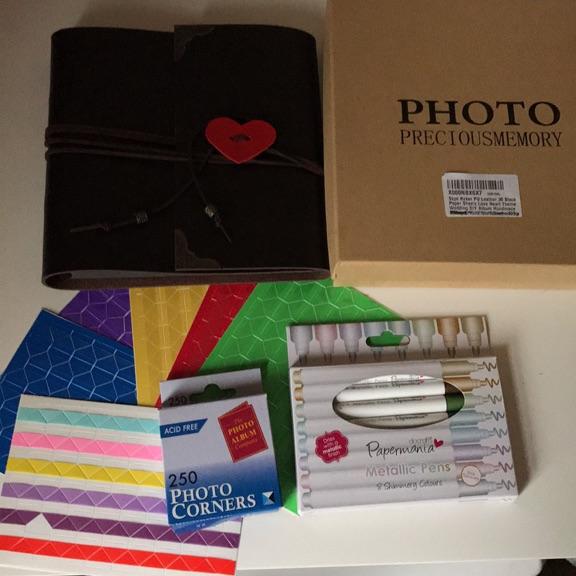NEW Photo album+Pens+Corners