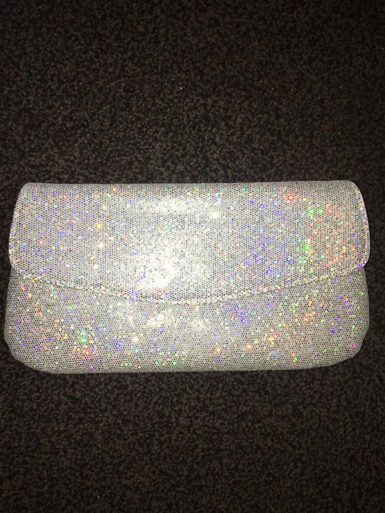Sparkly clutch bag