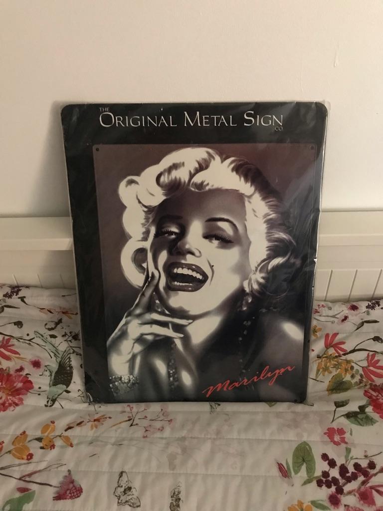 Marilyn Monroe Wall Art Metal Sign