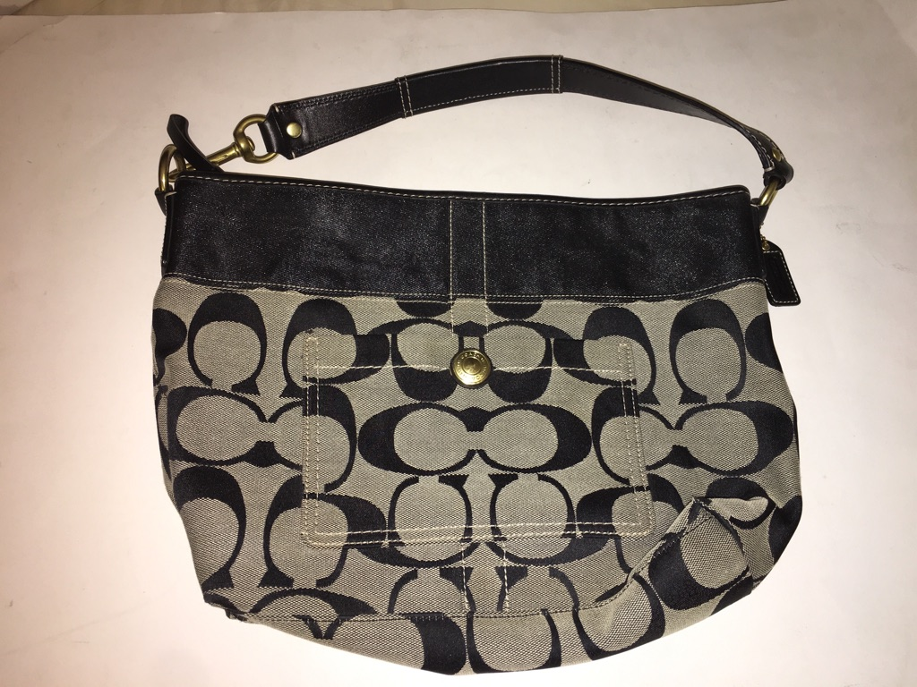 Coach Signature Shoulder Bag Black/Gray