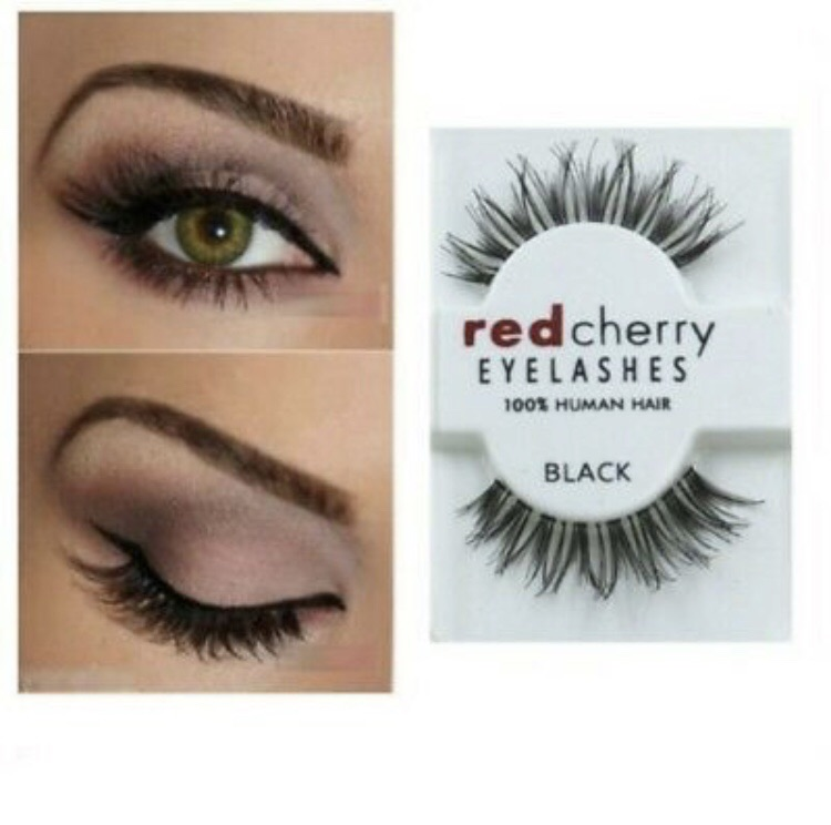 Red Cherry Lashes / 100% Human Hair False Eyelashes / High Quality Fake Lashes