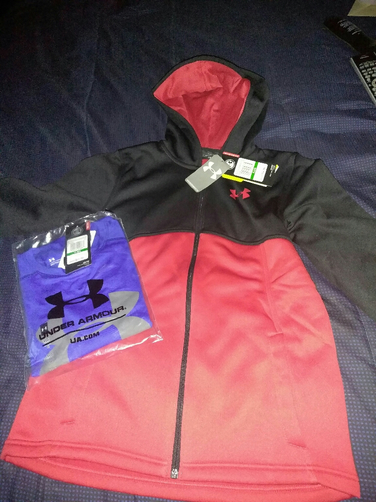Under armour hoody and shirts