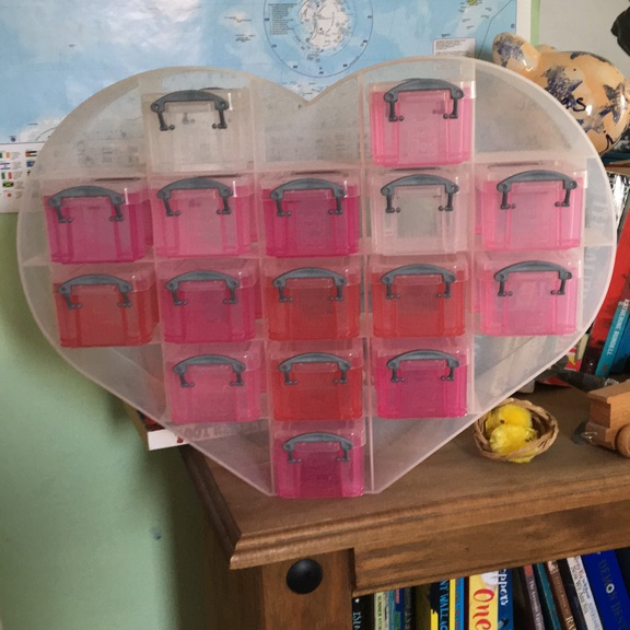 Love heart with storage boxes