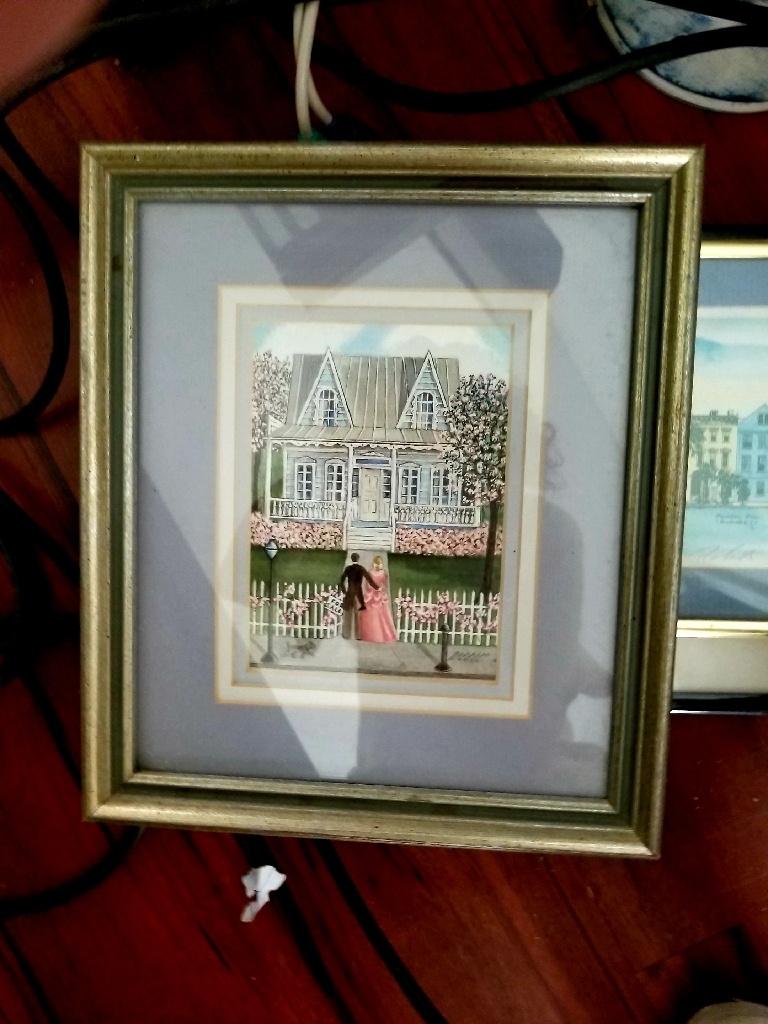 "Local Charleston Artist, Bonnie Holden's print called ""First Home"""