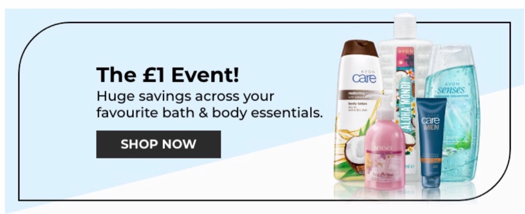 Avon's £1 event is on now!