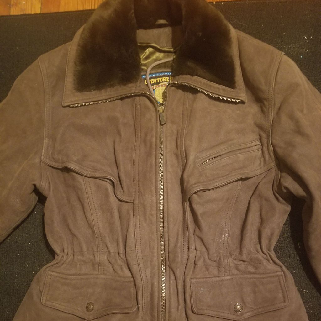 Women's size Large brown leather jacket