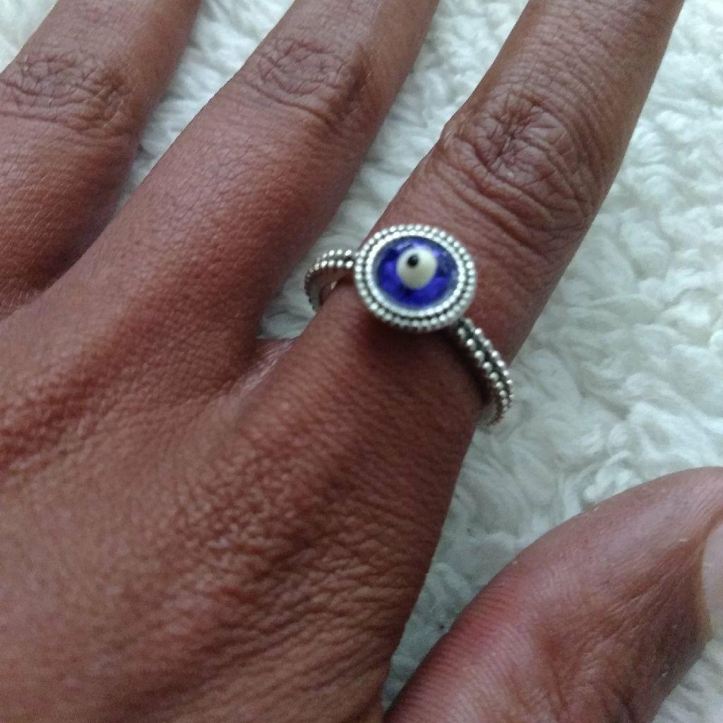 Stainless Steel Evil Eye Ring