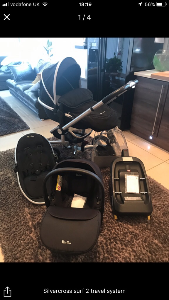 Silver cross surf 2 travel system pram