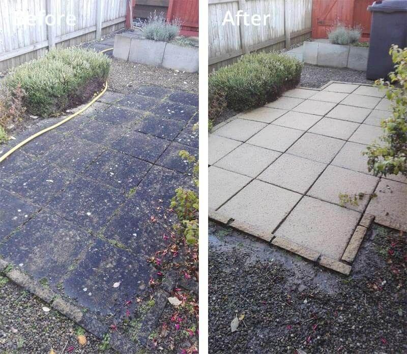 Jet wash patio driveway garden
