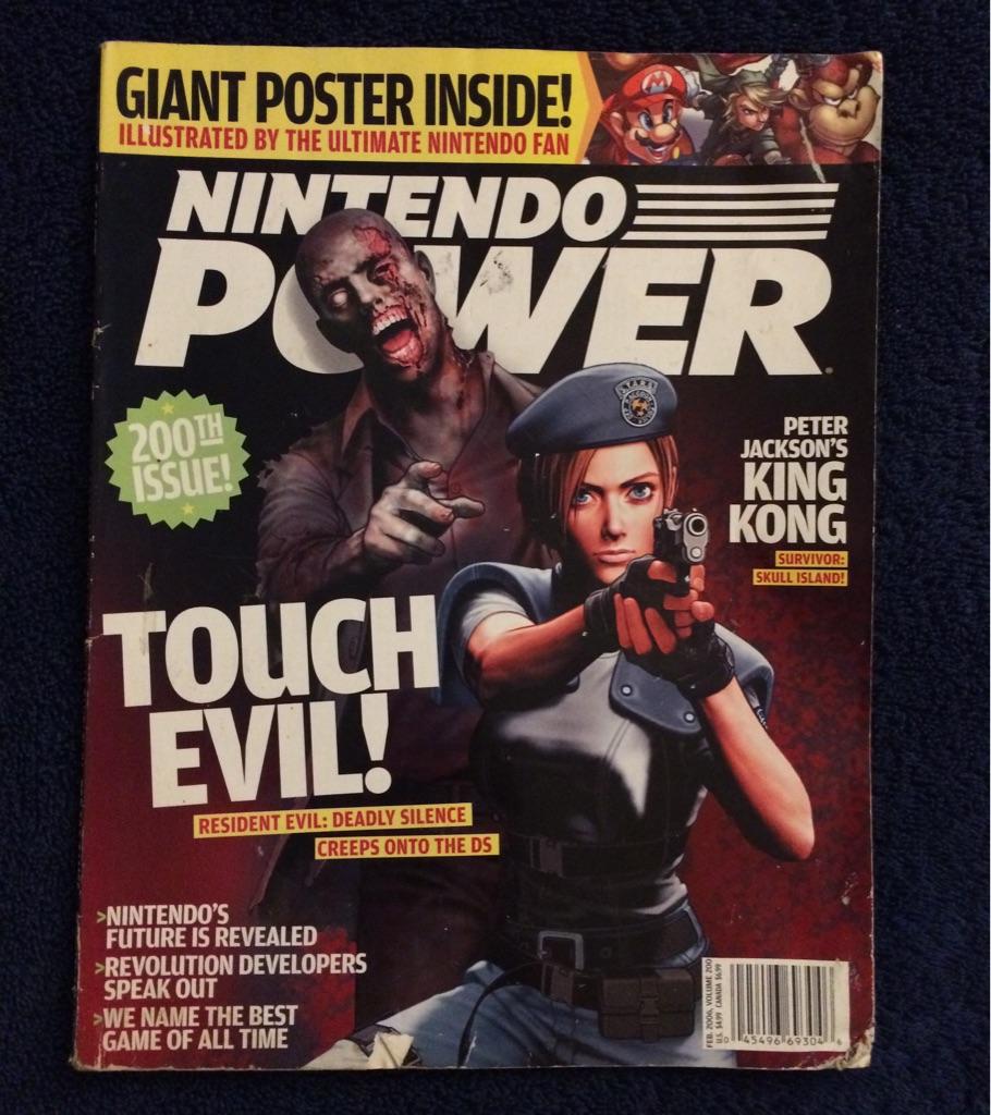 Nintendo Power Magazine Touch Evil 🧟♂️🎮🗞