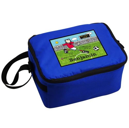 Personalised bang on the doorfootball crazy lunch bag