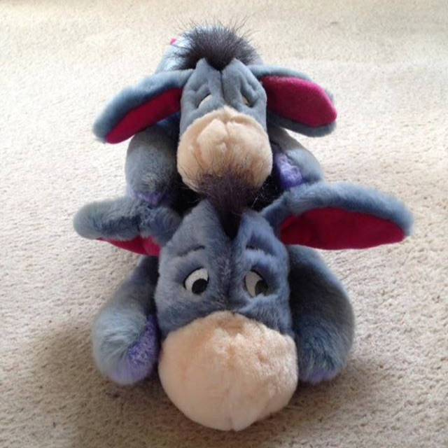 Disney Big Eeyore And Baby Eeyore Teddy