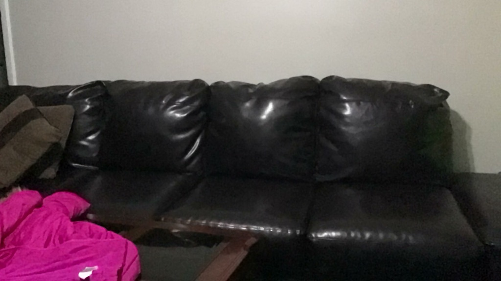 Sectional leather brown