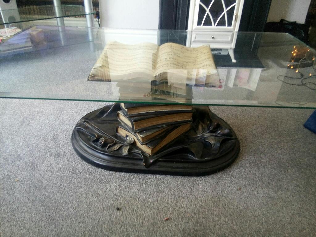 Vintage book base coffee table