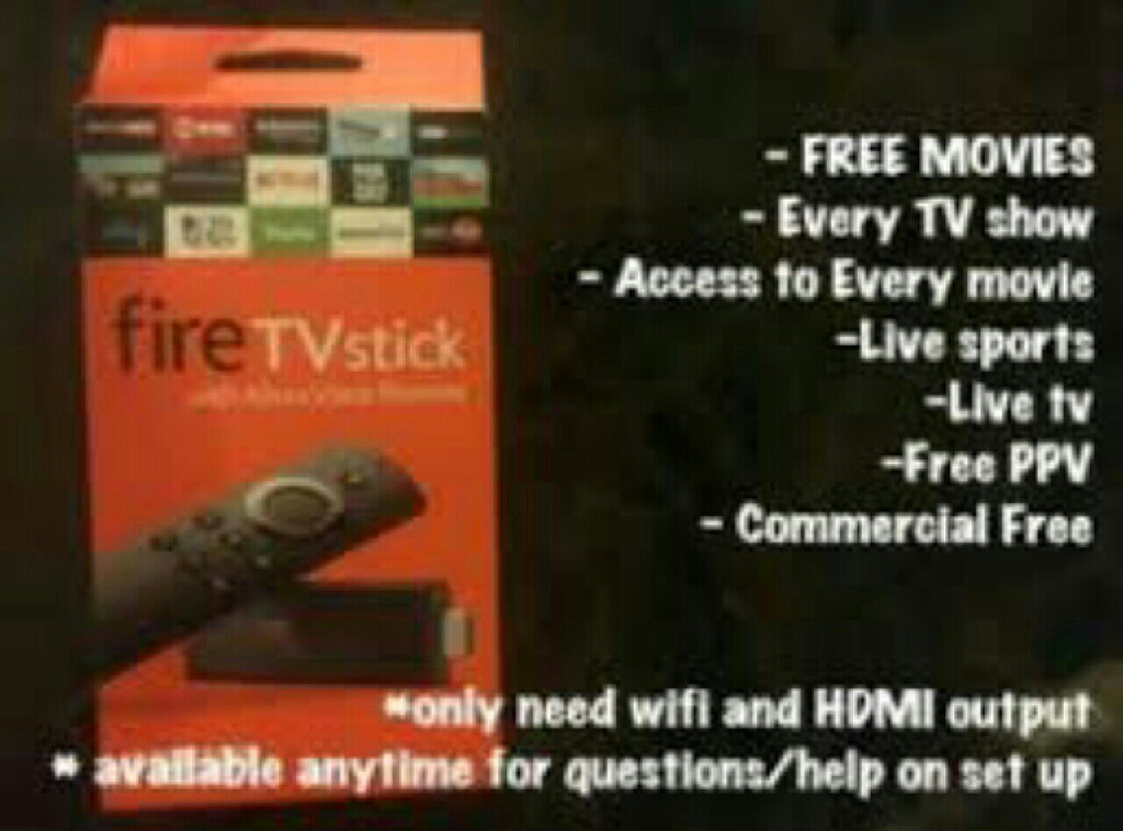 Amazon Firestick TV - Fully Loaded - Live TV, Sports, Movies and Shows