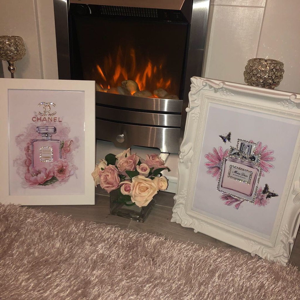 Chanel perfume flower picture frames