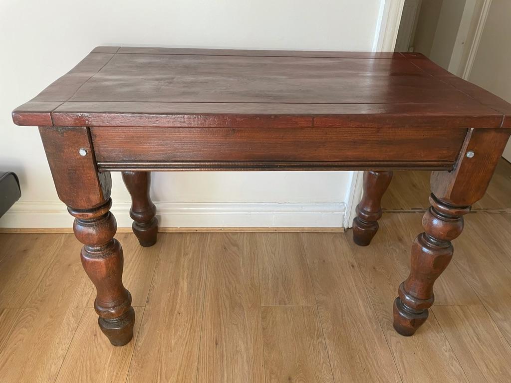 Farmhouse Dining Room Table With Chunky Legs