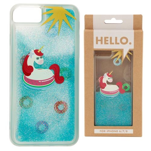 iPhone 6/7/8 phone case- tropical vacation vibes unicorn