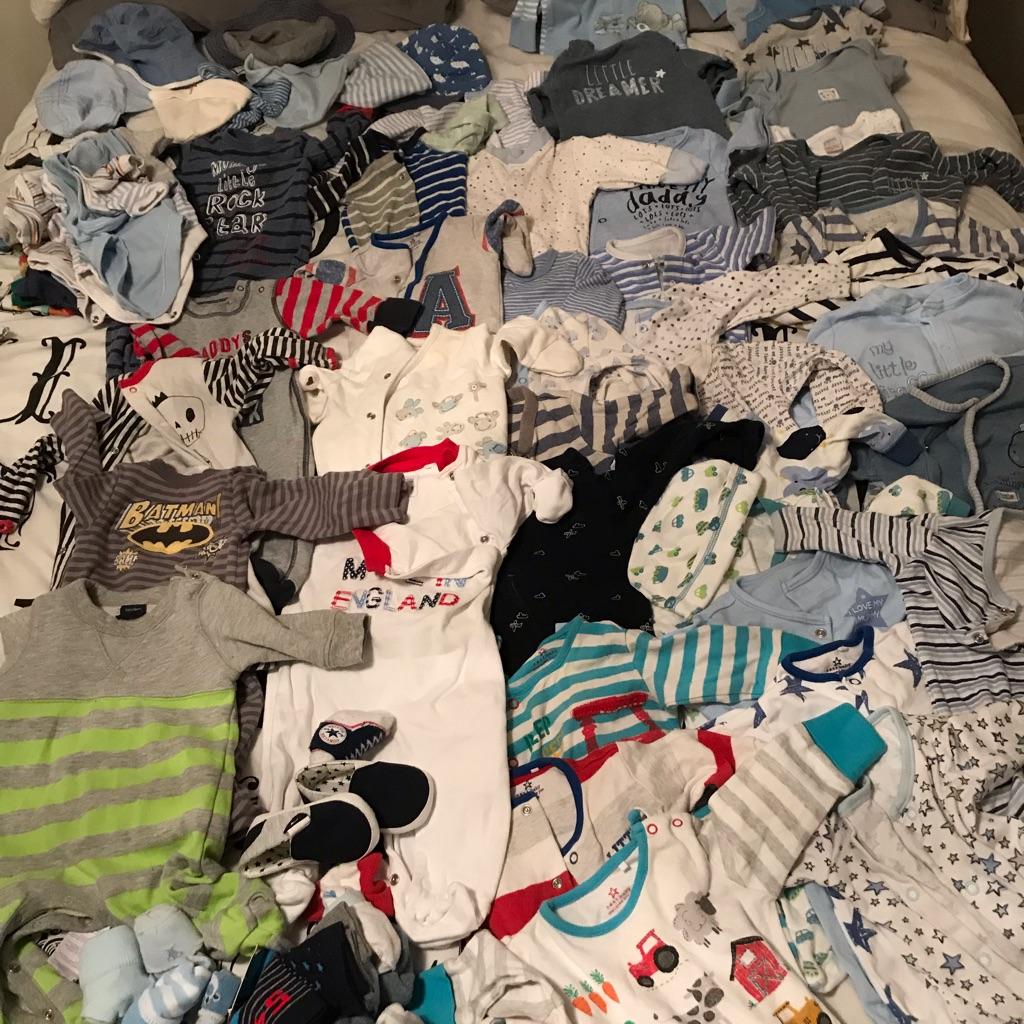0-3 bundle boys baby grows